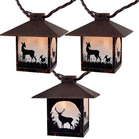 Deer Lights by Wilderness Silhouette Lantern String Lights