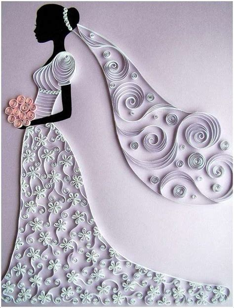 Wedding Paper Crafts - paper quilling on quilling paper