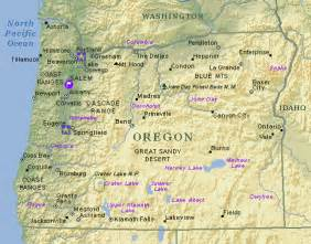 oregon map with cities and towns oregon