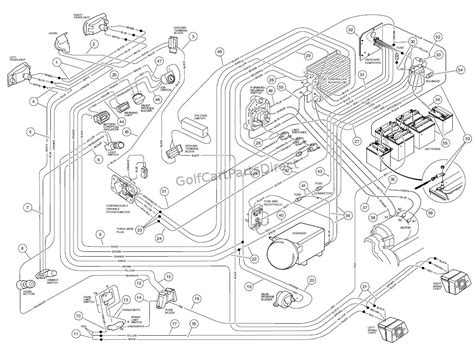 wiring diagram for 1999 club car golf cart within