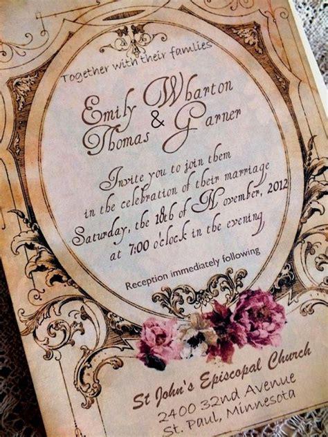 Ee  Wedding Ee   Invitation With Vintage Background Sample