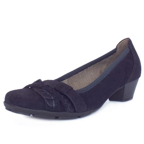 navy shoe gabor tyne s smart casual low heel shoes in dressy
