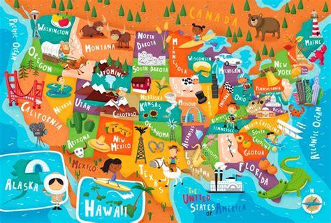 kid map of usa map of usa search cool stuff kid
