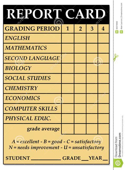 cards for school high school report card stock illustration illustration