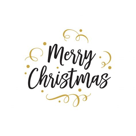 merry christmas lettering  party vector