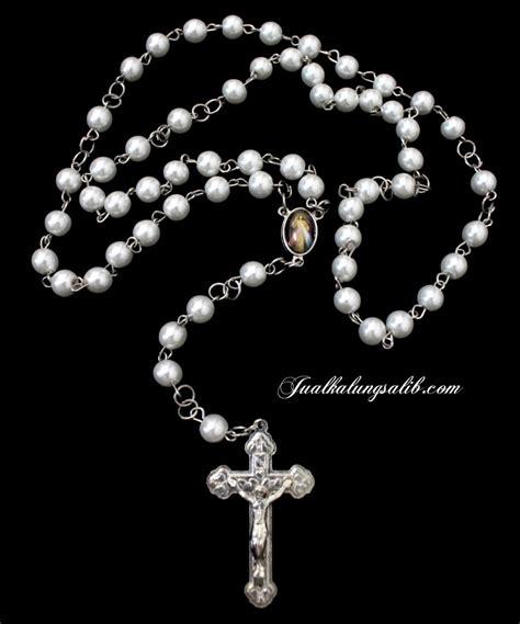 Rskm Rosario Kayu Warna Merah jual rosario putih terbaru
