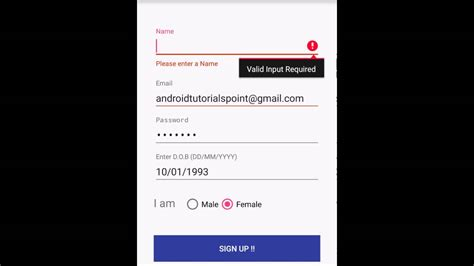 label design android android floating label edit text tutorial youtube