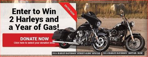 Harley Davidson Sweepstakes - win two harley davidsons and gas for a year
