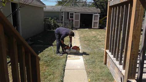 cutting concrete sidewalk  pool youtube