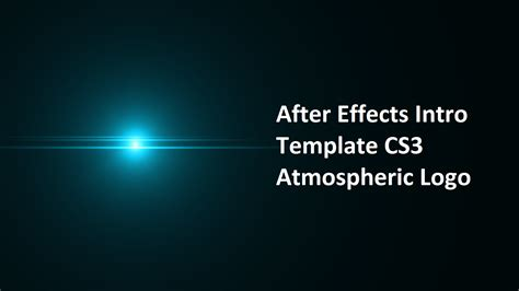 After Effects Logo Templates Free after effects intro templates cyberuse