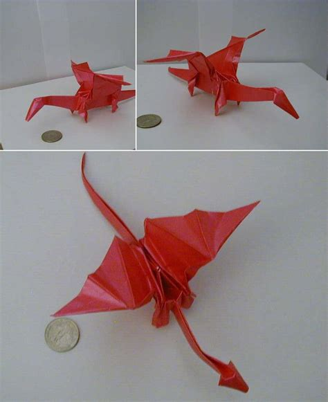 Origami Dragons - origami step by step paper