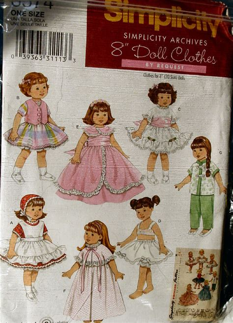 clothes pattern market retro doll clothes pattern 3574 for 8 quot dolls ginny pam