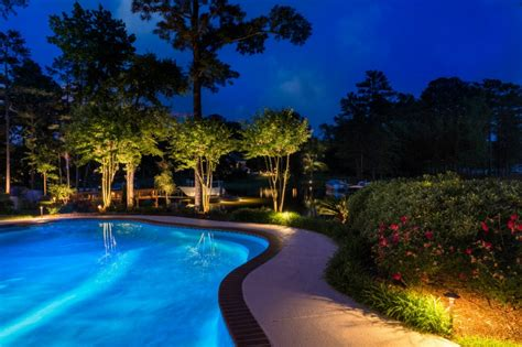 Pool Patio Lighting Custom Pool Lighting Outdoor Lighting Perspectives