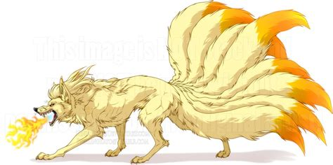 nine tailed fire starter by ninjakato on deviantart