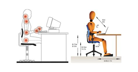 postura corretta scrivania la corretta postura davanti a un computer
