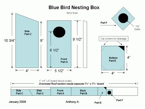 How To Build Simple Bluebird House Plans Pdf Plans Bluebird House Plans Pdf