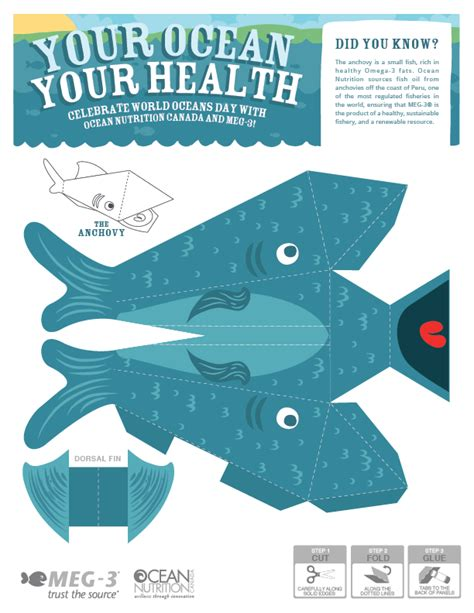 Paper Craft Fish - meg 3 and world oceans day meg3 omega 3