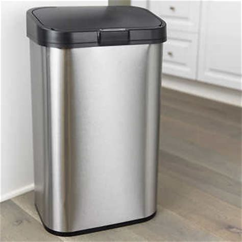 Kitchen Garbage Cans Costco Nine 15 8 Gallon Motion Sensor Stainless Steel Trash Can