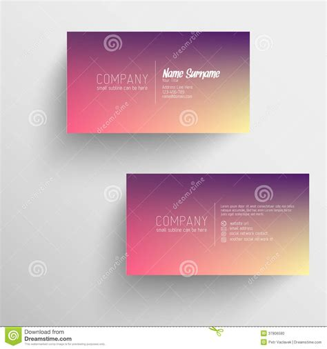 text business card templates modern business card template with blurred background