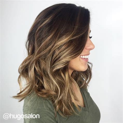 how to balayage med layered dark brown 70 balayage hair color ideas with blonde brown and