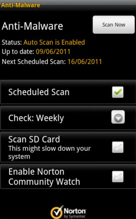 norton mobil security norton mobile security na android