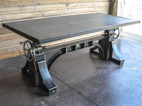 Industrial Kitchen Table Furniture bronx crank desk vintage industrial furniture
