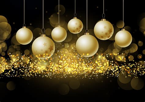 christmas baubles  glittery gold background   vectors clipart graphics vector art