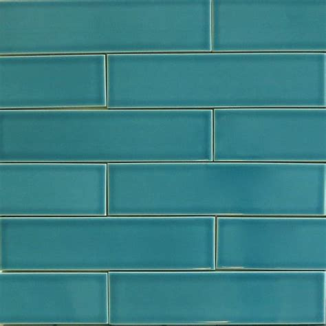 kiln ceramic 2x8 teal agate blue green ceramic tile
