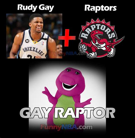 Funny Gay Meme - rudy gay to toronto raptors the gay lord in nba nba