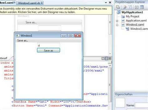tutorial vb net tutorial commandbinding in wpf mit xaml und vb net youtube