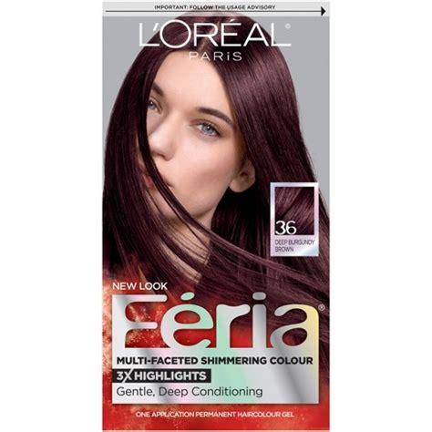 deep burgundy brown hair color l oreal 174 paris feria multi faceted shimmering color 36