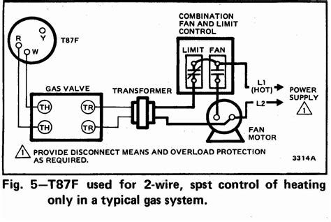 air conditioning thermostat wiring diagram tt t87f 0002