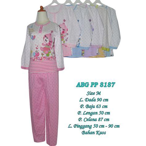 Baju Tidur Kaos Panjang baju tidur kaos piyama lengan panjang 8187 hanya rp 42 000 00