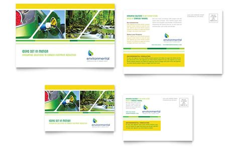 post card template publisher environmental conservation postcard template word