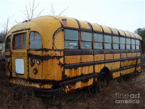home based buss for a forty five year old woman vintage school bus photograph by rivkah honeysgirl