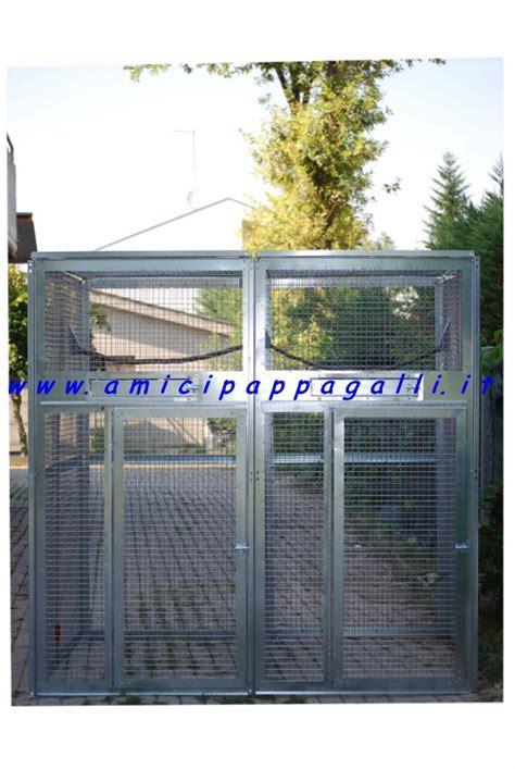 gabbie per parrocchetti voliera doppia a pannelli componibili in rete zincata