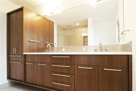 Modern Bathroom Cabinets Create Contemporary Look With Mid Century Modern Bathroom