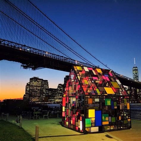 glass house nyc brooklyn bridge park new york city new york stained glass house
