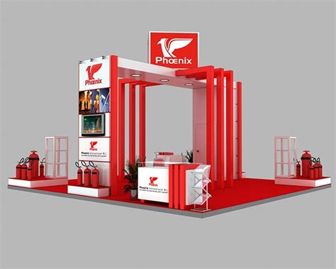 booth layout en francais phoenix exhibition booth design on behance