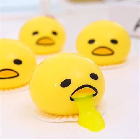 Lazy Gudetama Vomiting Slime In Plastic Package aliexpress buy novelty magic tricky lazy balls vomiting egg slime toys pinching vomit egg