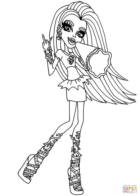 monster high venus mcflytrap coloring pages www pixshark