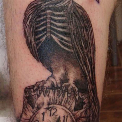 pretty skeleton tattoo 3 skeleton leg tattoo on