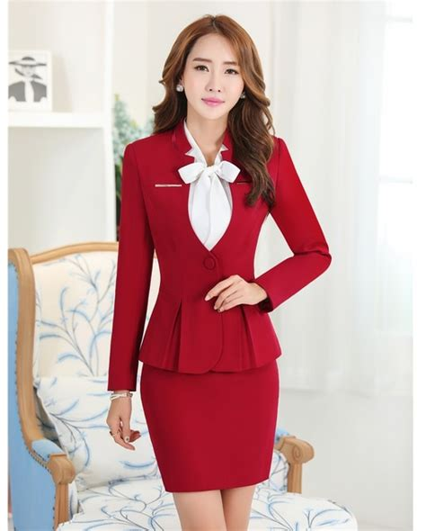 Set Rompi Merah Mini Dress aliexpress buy formal skirt suits blazers and jacket sets womens business