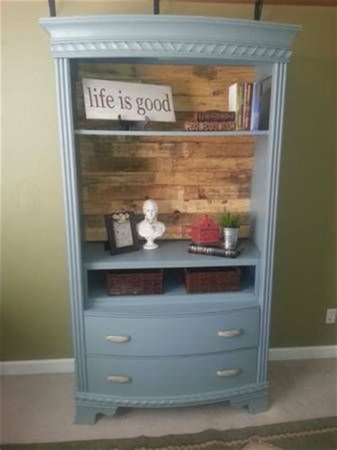 repurposed tv armoire beautiful armoire repurposed as open bookcase with pallet wood back furniture