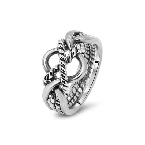 mens silver 4b2t m puzzle rings creations