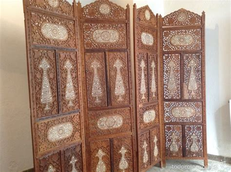 muebles estilo indio biombo madera artesanal estilo indio y mesita d comprar