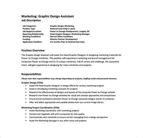 graphics design responsibilities 10 graphic designer job description templates free