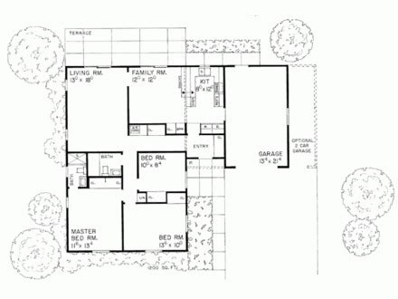 L Shaped Ranch Floor Plans by L Shaped House Plans Designs Best L Shaped House Plans