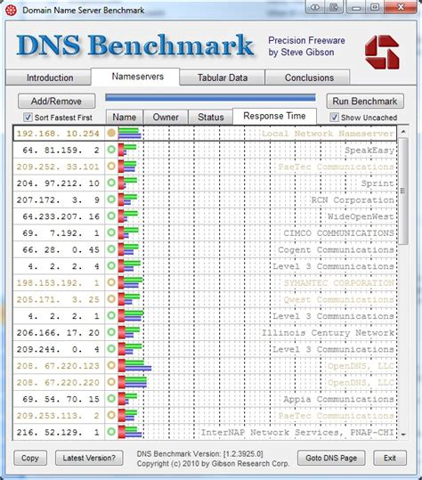 dns bench benchmarking your dns servers to improve internet performance sam kear dot com