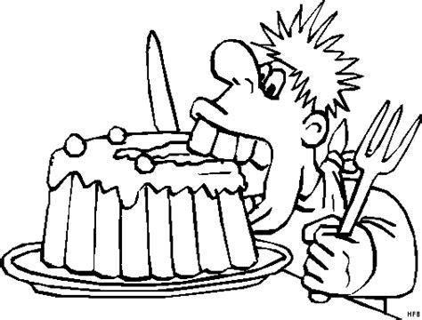 kuchen malvorlage junge beisst in kuchen ausmalbild malvorlage comics